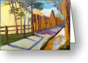 Pamela Meredith Greeting Cards - Country Village Greeting Card by Pamela  Meredith