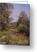 Foothill Greeting Cards - Countryhouse. Bulgaria Greeting Card by Andrey Soldatenko