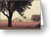 Landscape Photographs Greeting Cards - Countrylife Greeting Card by Aimelle