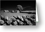 Granite Walls Greeting Cards - Countryside Beneath Slieve Binnian In The Mourne Mountains Northern Ireland Greeting Card by Joe Fox
