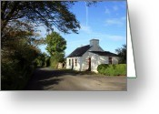County Clare Greeting Cards - County Clare Cottage Greeting Card by John Quinn