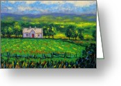 Landscape Framed Print Greeting Cards - County Wicklow Ireland Greeting Card by John  Nolan