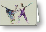Ballet Art Greeting Cards - Couple Dancing Ballet Greeting Card by Irina  March