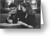 Consoling Greeting Cards - Couple In Pub Greeting Card by Picture Post