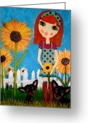 Whimsy Mixed Media Greeting Cards - Courage 2 Greeting Card by Laura Bell