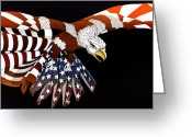 4th July Greeting Cards - Courage Greeting Card by Charles Drummond