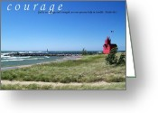 Dune Grass Greeting Cards - Courage Greeting Card by Michelle Calkins