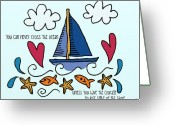 Sentiments Greeting Cards - Courage To Sail Greeting Card by Jennifer Heath Henry