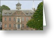 Federalist Greeting Cards - Court House Newport Rhode Island Greeting Card by Diane E Berry