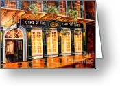 Street Light Greeting Cards - Court of the Two Sisters Greeting Card by Diane Millsap