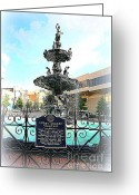 Civil Rights Photo Greeting Cards - Court Square Fountain Greeting Card by Carol Groenen