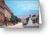 Ontario Mixed Media Greeting Cards - Courthouse Square Brockville Ontario 2009 Greeting Card by John Cullen