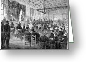 Cole Photo Greeting Cards - Courtroom Trial, 1868 Greeting Card by Granger