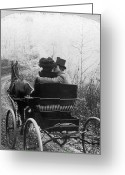 Lover Greeting Cards - Courtship/carriage Ride Greeting Card by Granger