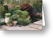 Flower Show Greeting Cards - Courtyard Garden Greeting Card by Vaughan Fleming