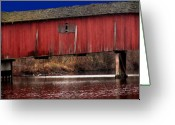 Bridge Greeting Cards - Covered Bridge Greeting Card by Michael L Kimble