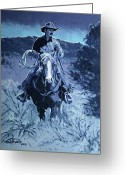 Bloomfield Greeting Cards - Cowboy Blues Greeting Card by Randy Follis