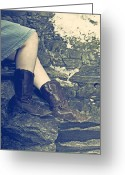 Cowboy Boots Greeting Cards - Cowboy Boots Greeting Card by Joana Kruse
