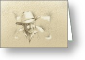 West Indian Mixed Media Greeting Cards - Cowboy Brand Greeting Card by Robert Martinez