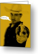 Cowboy Digital Art Greeting Cards - Cowboy  Greeting Card by Chandler  Douglas