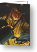 Great Painting Greeting Cards - Cowboy Coffee Greeting Card by Cara Zietz