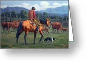 Bloomfield Greeting Cards - Cowboy Crew Greeting Card by Randy Follis