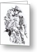 Cowboy Greeting Cards - Cowboy Greeting Card by Mike Massengale