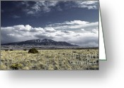 Rocky Mountains Greeting Cards Greeting Cards - Cowboy Ranch Greeting Card by Andrea Hazel Ihlefeld