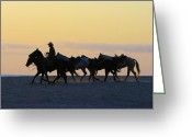 Greaves Greeting Cards - Cowboy Silhouette Greeting Card by John  Greaves