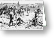 Betting Greeting Cards - Cowboys At Bullfight, 1880 Greeting Card by Granger