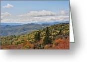 Cowee Greeting Cards - Cowee Mountains Greeting Card by Donnie Smith