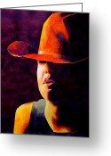 Cowgirl Greeting Cards - Cowgirl Greeting Card by Robert Hooper