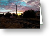 Oceania Greeting Cards - Cowra Sunset Greeting Card by John Buxton