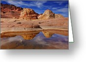 Brain Greeting Cards - Coyote Butte Reflections Greeting Card by Mike  Dawson