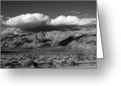 Desert Greeting Cards - Coyote Mountains Greeting Card by Peter Tellone