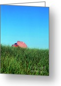 Nauset Beach Greeting Cards - Cozy beach umbrellas Greeting Card by John Greim