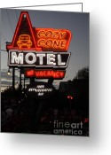 Anaheim California Greeting Cards - Cozy Cone Motel - Radiator Springs Cars Land - Disney California Adventure - 5D17744 Greeting Card by Wingsdomain Art and Photography