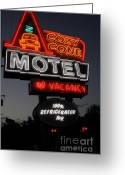 Anaheim California Greeting Cards - Cozy Cone Motel - Radiator Springs Cars Land - Disney California Adventure - 5D17746 Greeting Card by Wingsdomain Art and Photography