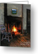 Wood Floor Greeting Cards - Cozy Greeting Card by Robert Foster