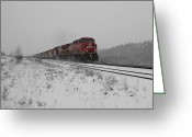 Occupy Greeting Cards - CP Rail 2 Greeting Card by Stuart Turnbull