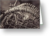 Twine Greeting Cards - Crab Cage Greeting Card by Justin Albrecht