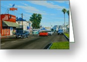 1964 Corvette Greeting Cards - Crab Cooker Newport Beach Greeting Card by Frank Dalton