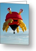 Balloon Fiesta Greeting Cards - Crabby Greeting Card by Jim Chamberlain