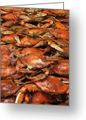 Crabbing Greeting Cards - Crabs Greeting Card by Richard Roselli
