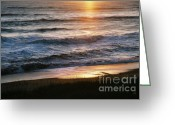 Ocean Front Greeting Cards - Crack of Dawn Greeting Card by Gerlinde Keating - Keating Associates Inc