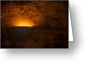 Horror Greeting Cards - Cracked Wall Greeting Card by Svetlana Sewell