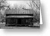Tin Greeting Cards - Cracker Cabin Greeting Card by David Lee Thompson