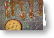 Abstract Realism Painting Greeting Cards - Cracker Honey Greeting Card by James W Johnson