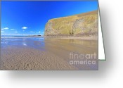 Beaches Greeting Cards - Crackington Haven Greeting Card by Carl Whitfield