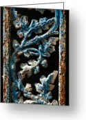 Ocularperceptions Greeting Cards - Crackled Coats Greeting Card by Christopher Holmes